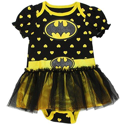 [Batgirl Baby Girl Tutu Onesie Costume (Medium 3-6 Months)] (Baby Batgirl Outfit)
