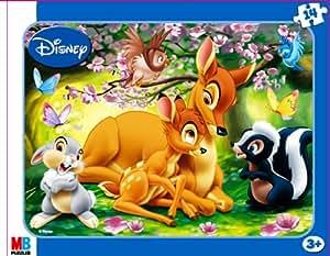 MB - Puzzle enfant - Puzzles 14 Pièces Encastrés Disney N°1 : Bambi