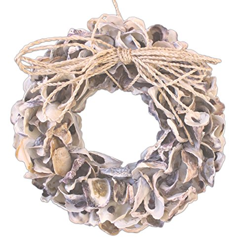 Mud Pie Sea Holiday Oyster Shell Nautical Wreath