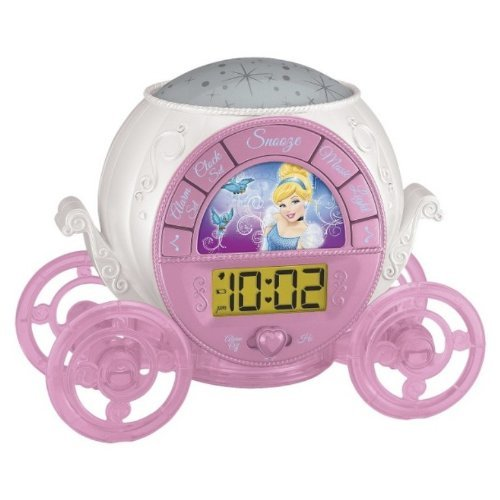 Disney Princess Magical Projection Alarm Clock (DP-302)