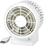 RHYTHM コンパクトファン Silky Wind 9ZF002RH03 ホワイト USB卓上扇風機