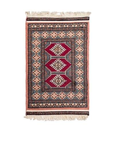Navaei & Co. Tappeto Kashmir Rosso/Multicolore 97 x 62 cm