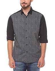Shuffle Men's Casual Shirt (8907423018181_2021513001_Large_Grey)