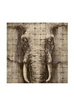 COLONIAL CHIC Panel de Madera Elephant