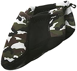 Nufoot Baby Booties, Camo with Black Stripe, 0-6 Months