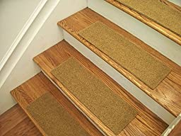Essential Carpet Stair Treads - Style: Velour - Color: Gold - Size: 24\