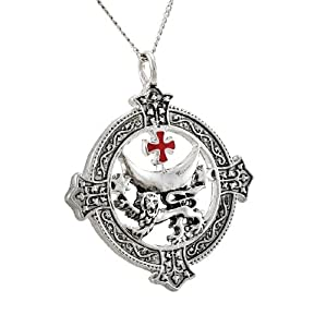 Templar Knights Templar Lion for Power and Success Necklace