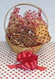 Scott's Cakes Large Valentines Day Classic Cookie Basket with Handle Heart Wrapping