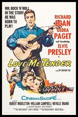LOVE ME TENDER * CineMasterpieces ELVIS PRESLEY NM-M TRI FOLD MOVIE
