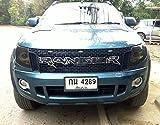 Chrome Raptor Front Grill Grille Awesome Black Lit Ford Ranger T6 Xlt Px Wildtrak Ute 12 13 14 Pick Up