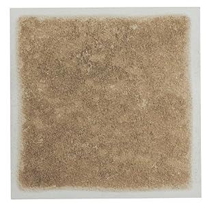"Peel and Stick Sandstone 4""x4"" Vinyl Wall Tiles 3 Square Feet Kitchen and Bath Backsplash"
