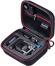 """Smatree® Case para GoPro - SmaCase G75 (6.8"""" x2.7"""" x5"""") - Funda Case / estuche de viaje para Gopro® Hero 4, Hero 3+, Hero 3, Hero 2, Hero 1, Cámara y Accesorios Esenciales - Negro"""