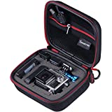 "Smatree® SmaCase G75- Small Case for Gopro Hero, Hero 4, 3+, 3, 2 and Accessories (6.8"" x2.7"" x5"") - Travel & Household Case with Excellent Cut  Foam Interior - Perfect Protection for Gopro Camera- Black & Red"