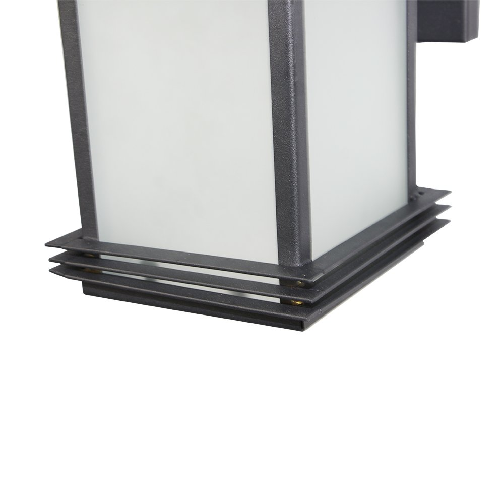 LNC Industrial Edison Vintage Style Loft One-Light Exterior Wall Lantern Outdoor Light Fixture,Black Finish with Glass 6