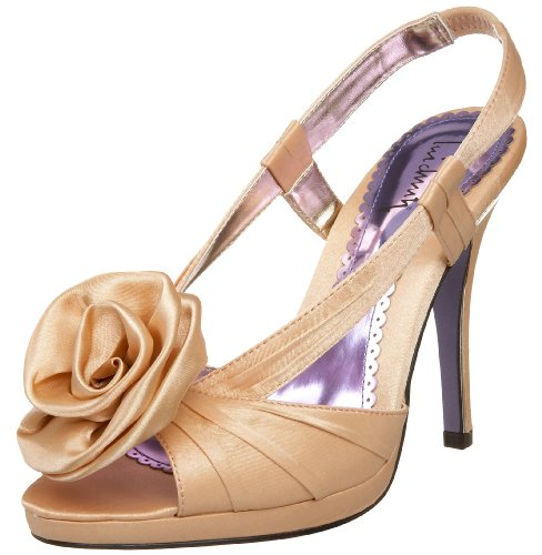 Luichiny Women's Gettin Hitched Sandal,Champagne Satin,10 M US