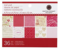 Martha Stewart Crafts Key And Heart Mat Pad, 36 Sheets