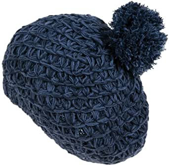 Nirvanna Designs CH708 Lamb's Wool Combo Beret, Blue/Combo