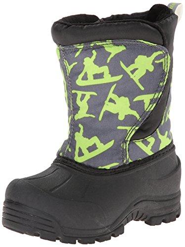Northside Snoqualmie Winter Boot (Toddler),Dark Gray/Green,8 M Us Toddler