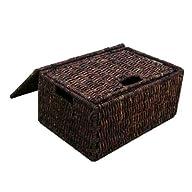 Rectangular Basket w Lid in Rich Waln…