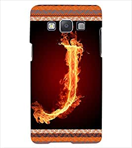 ColourCraft Alphabet J Back Case Cover for SAMSUNG GALAXY E5