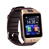 eCosmosTM Bluetooth Smart Watch Phone With Camera and Sim Card Support With Apps like Facebook and WhatsApp Touch Screen Multilanguage Android/IOS Mobile Phone Wrist Watch Phone with activity trackers and fitness band features compatible with Samsung IPho