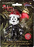 Black Felix the Cat Holiday Christmas Ornament in Santa Claus Hat