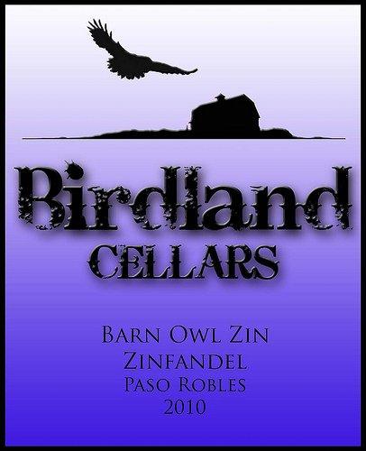 2010 Birdland Cellars Zinfandel Central Coast Paso Robles Barn Owl Zin 750 Ml Bottle