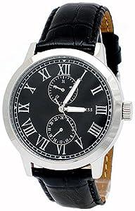Amazon.com: Guess Mens Dress Watch with Leather Bracelet W85043G1