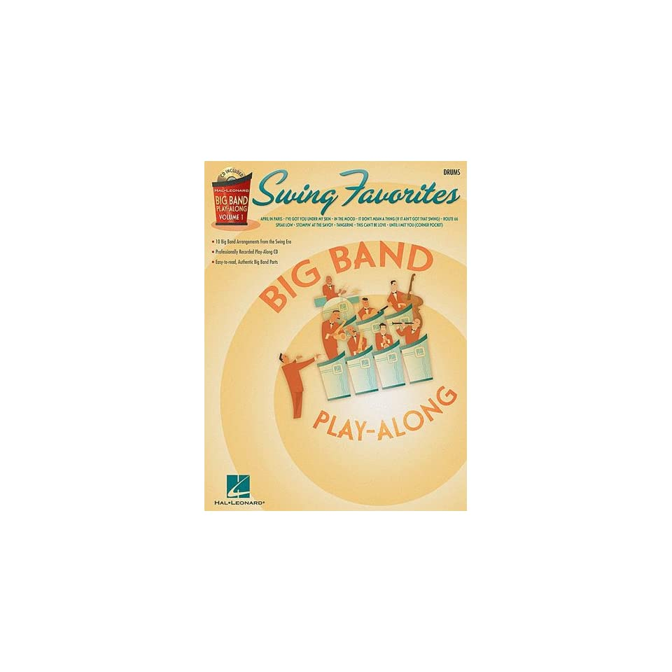 Swing Favorites   Drums   Big Band Play Along Volume 1   Book and CD Package