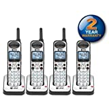 AT&T SB67108 Wireless Handheld Telephone and Charger with New DECT 6.0 Technology (4 Pack) (Color: 4-SB67108 Handsets)