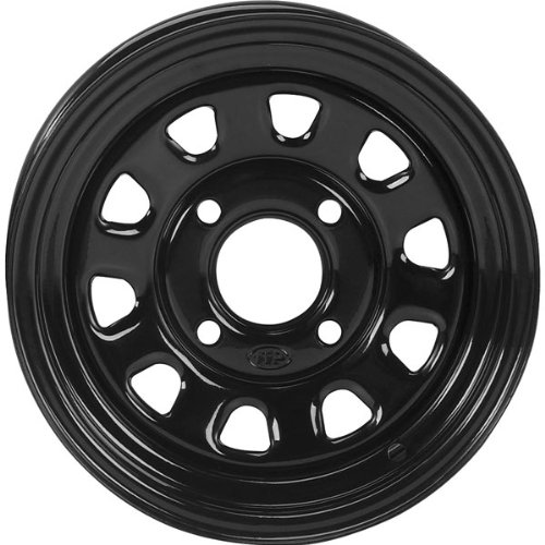51E 41Cda6L ITP Delta Steel Wheel   12x7   5+2 Offset   4/110   Black,