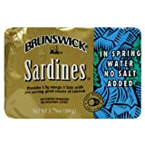 Brunswick Sardines in Water, 3.75-Ounce Cans (Pack of 25)