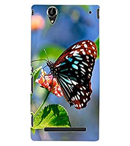 ColourCraft Butterfly Design Back Case Cover for SONY XPERIA T2 ULTRA DUAL D5322