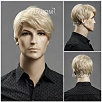 (WG-ZL11-22)Short Straight Men Wig,Golden Blonde color. from Roxy Display
