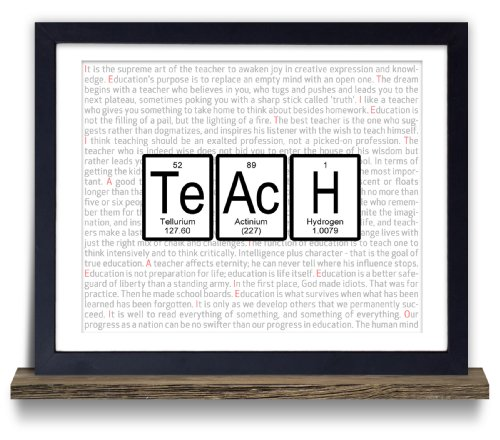 Teach Periodic Table of Elements Typography Print