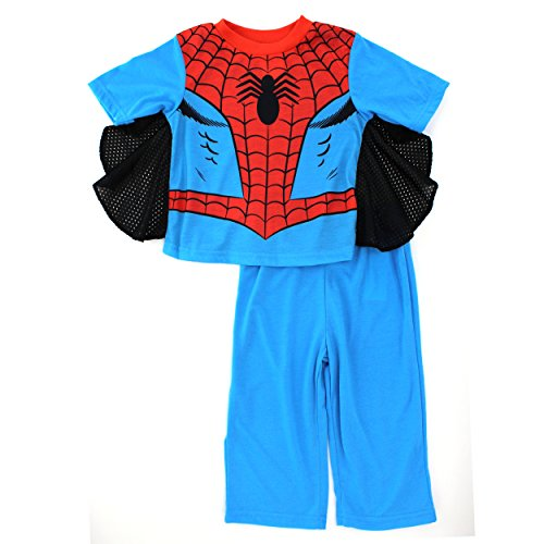 Spider-Man Boys Blue Poly Pajamas Set
