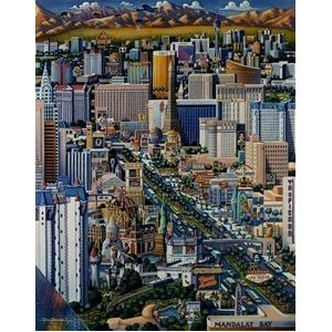 DOWDLE-FOLK-ART-Las-Vegas-1000pc-Jigsaw-Puzzle