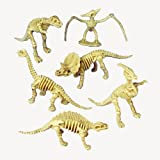 Lot Of 12 Assorted Dinosaur Skeleton Toy Figures