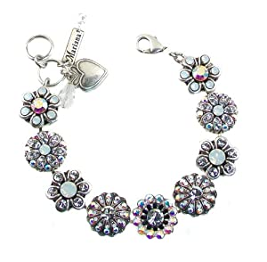 "Amazon.com: Mariana ""On A Clear Day"" Antique Silver Plated Swarovski"