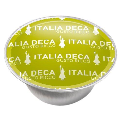 16 Capsule Alluminio I Caffe' D'Italia Bialetti Mokespresso Deka Decaffeinato
