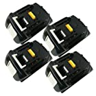 Sunvalleytek 4 Pack Brand New Replacement 18v 3.0Ah Li-ion Lithium-Ion Rechargeable Battery for Makita 194205-3 LXT-400 BL1830 BL1815 BL1835
