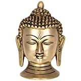 Kapasi Handicrafts Buddha Head Brass Idol (4 X 2.5 X 5 Inches)