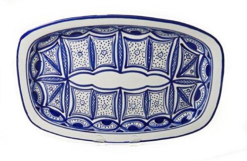 Le Souk Ceramique Qamara Design Rectangular Platter