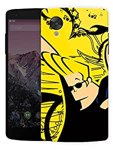 "Humor Gang Golden Haired Stud Funky Printed Designer Mobile Back Cover For ""Lg Google Nexus 5"" (3D, Matte, Premium Quality Snap On Case)..."