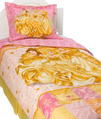 Disney Princess Twin Comforter, Pillow Sham & Bed Skirt Set front-27170