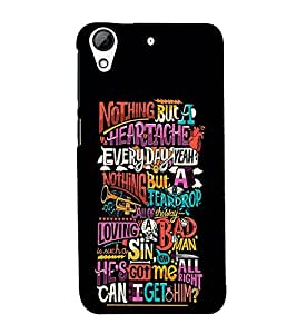 99Sublimation Cani Get Him Quote 3D Hard Polycarbonate Back Case Cover for HTC Desire 728