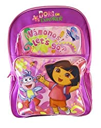 Nick Jr Dora The Explorer Backpack - Dora n Boots Let's Go Backpack (Full)
