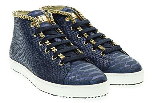 STOKTON donna sneakers alte 515-D Blu 36 Blu