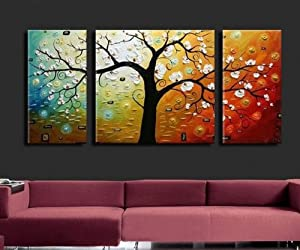 Amazon.com: Abstract Painting Tree of Life Large Oil