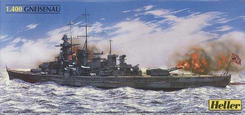 Heller 1/400 Scale DKM Gneisenau Battleship